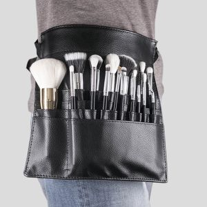 Tamax New Fashion Makeup Brush Holder Stand 22 Pockets Strap Black Belt Waist Bag Salon Makeup Artist Cosmetic for Sale in Willingboro, NJ