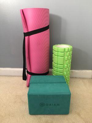 Yoga Mat, Blocks, and Foam Roller for Sale in Atlanta, GA