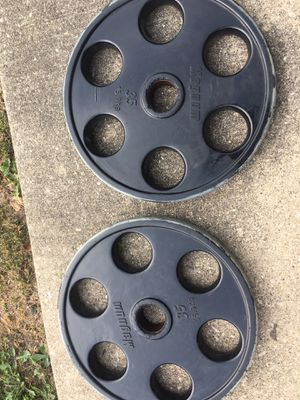 Pair of 35's Olympic Rubber Coated for Sale in Des Plaines, IL