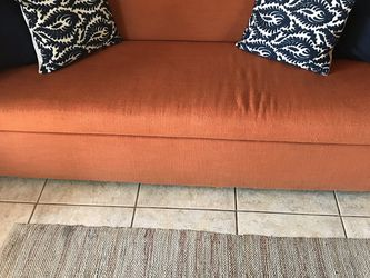 Orange Couch Hide-a-bed for Sale in Mesa, AZ
