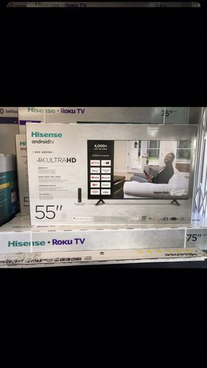 55 INCH HISENSE ANDROID 4K ULTRA SMART TV 📺 for Sale in Chino Hills, CA