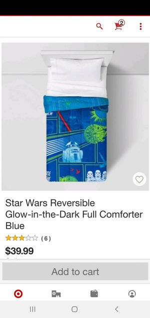 STAR WARS COMFORTER AND SHEET SET FULL SIZE for Sale in Medina, OH