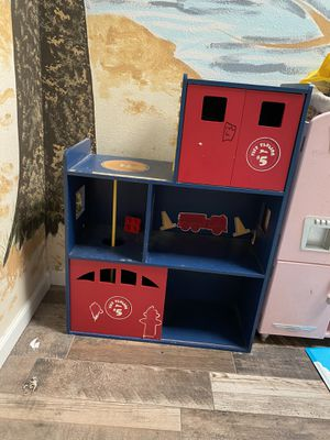 Kids fire station bookcase for Sale in San Diego, CA