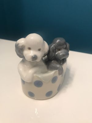 NAO Lladro 2 Puppies in Basket Porcelain Figurine for Sale in Brick Township, NJ