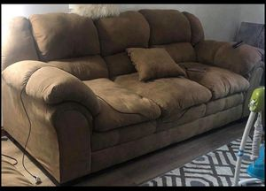 2 piece couches with four pillows for Sale in Erie, PA