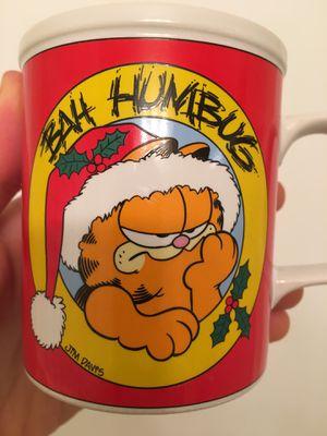 Garfield BAH HUMBUG Jim Davis 1978. Vintage Christmas Coffee Mug for Sale in Atlanta, GA