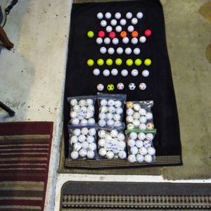 Cheep Balls 12 Nice Precept, 6 Colored Callaways, 6 Niki , 5 Top/Flite, 7 Colored Titlest,, 7 Titlest, 5 Soccer+6 Doz Practice Balls for Sale in Reedley, CA