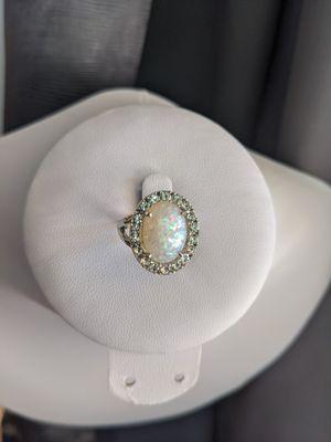 Pretty faux alloy opal ring size 7 for Sale in Sacramento, CA