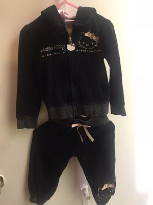 Hello Kitty black 2-pc hoodie and joggers for Sale in Rialto, CA