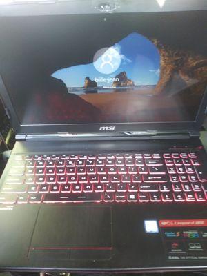 Msi gp63 leopard 8re laptop for Sale in Wenatchee, WA