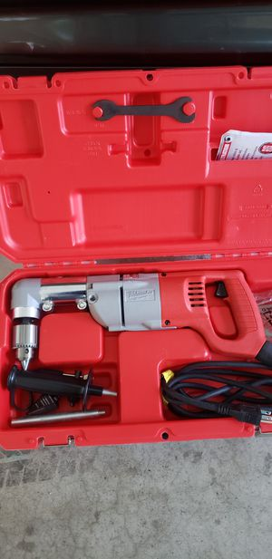 Milwaukee 7 Amp Corded 1/2 in. Corded Right-Angle Drill Kit with Hard Case for Sale in San Diego, CA