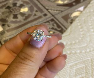 14k white gold Forever One Charles and Colvard 2 carat Moissanite and diamond wedding ring anniversary ring for Sale in Westminster, CA