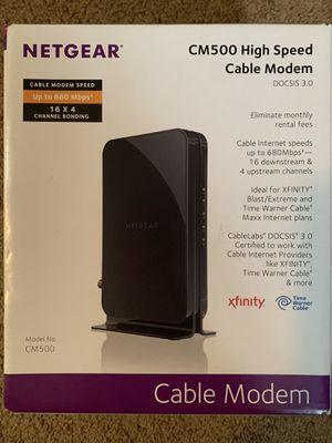 Netgear CM500 cable modem for Sale in Beaverton, OR