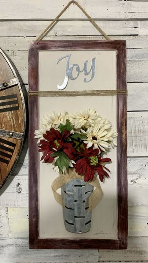 Farmhouse / wood / hanging / floral / wall decor for Sale in Deltona, FL
