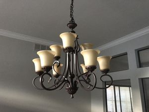 Chandelier 9-light, 2 tier for sale due to style change for Sale in Plano, TX
