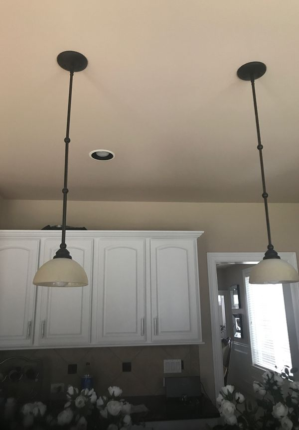 Hanging kitchen island lights