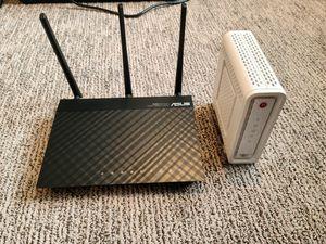 Asus N66U router and motorola surfboard 6141 for Sale in Langhorne, PA