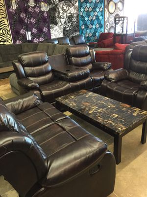 Living room three-piece recliner finance available. 1456 North Beltline Rd. garland TX 75044 suite number 121 for Sale in Garland, TX