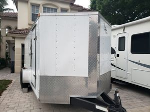 7 by 18 enclosed trailer side door ramp door like new for Sale in Lake Worth, FL