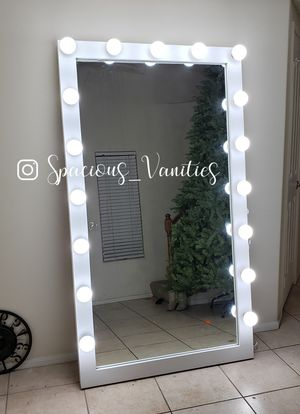 XXL makeup and hair floor full body vanity mirror 42x78 for Sale in Bloomington, CA
