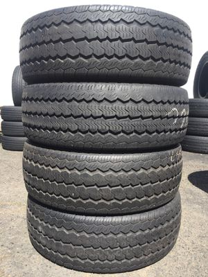 235/65/16 C Continental set of used tires in great condition 70% tread 185$ for 4 . Installation balance and alignment available. Road force balance for Sale in Roselle Park, NJ