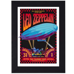 Led Zeppelin Fillmore East 60s 70s Classic Rock print mini concert poster flyer music for Sale in Covina, CA