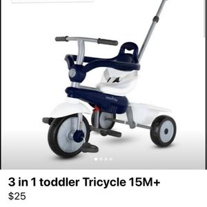 SmartTrike Lollipop 3 In 1 Toddler Tricycle 15M+ Blue/white for Sale in Garland, TX