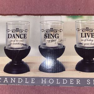 Glass Candle Holder Set for Sale in Downey, CA