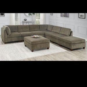 Sectional Reversible 2pc Couch | No Ottoman Or Chaise for Sale in Culver City, CA