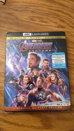 Avengers endgame - new unopened 4k, blu-ray and digital code for Sale in Buffalo, NY