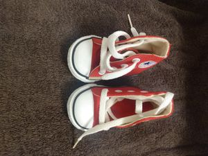 Converse red infant shoes. Size 1 for Sale in Mesa, AZ