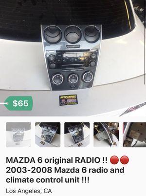 🚨🚨 Mazda 6 RADIO !!🚨🚨 many parts for Mazda 6 !!! for Sale in Los Angeles, CA