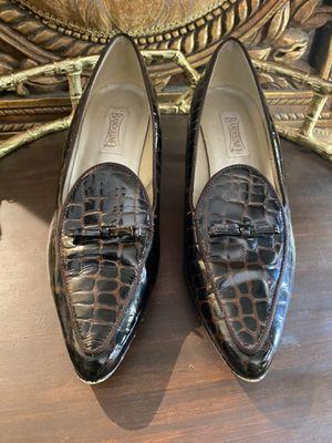 BANDELINO Brown/Black Short Leather Heels for Sale in The Woodlands, TX