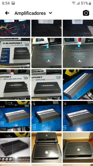 Best car amplifiers starting at 100 dlls for Sale in North Las Vegas, NV