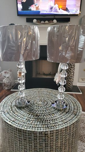 🆕️🔥 Set of 2 Crystal Glass Lamps for Sale in Conyers, GA