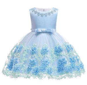 Flower Girls Sleeveless Wedding Banquet Tulle Netting Dresses for Sale in Aurora, CO