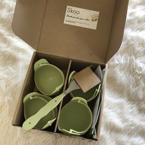 Skoo Silicone Steamer Egg Poacher Set New. Instant pot open plastic wrap but never used for Sale in Phoenix, AZ