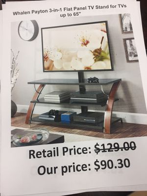 Whalen Payton 3 in 1 flat panel tv stand for Sale in San Leandro, CA