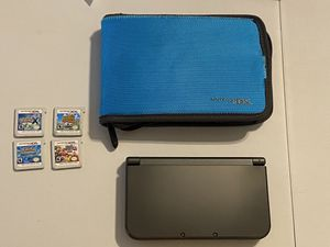 Nintendo 3DS XL game system with 4 games for Sale in St. Louis, MO