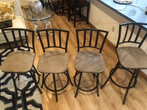 Bar stools ( 2 tall, 2 medium) for Sale in Revere, MA