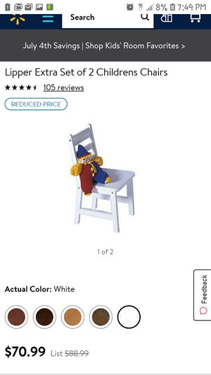Lipper international white Wood kids chair for Sale in Sacramento, CA