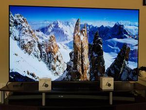 "2 Google Chromecast Ultra 4K, LG OLED TV 65"" with TV stand, Samsung Soundbar for Super Bowl for Sale in Atlanta, GA"