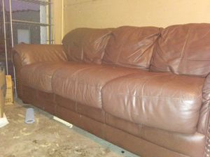 Beautiful 11 year old real leather couch for Sale in Lexington, KY