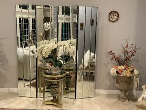 """Custom design , Mirror folding / room divider furniture pice to give your home a stylish new look . 80""""H. 73""""W. Each panel is 18"""" W for Sale in Laguna Niguel, CA"""