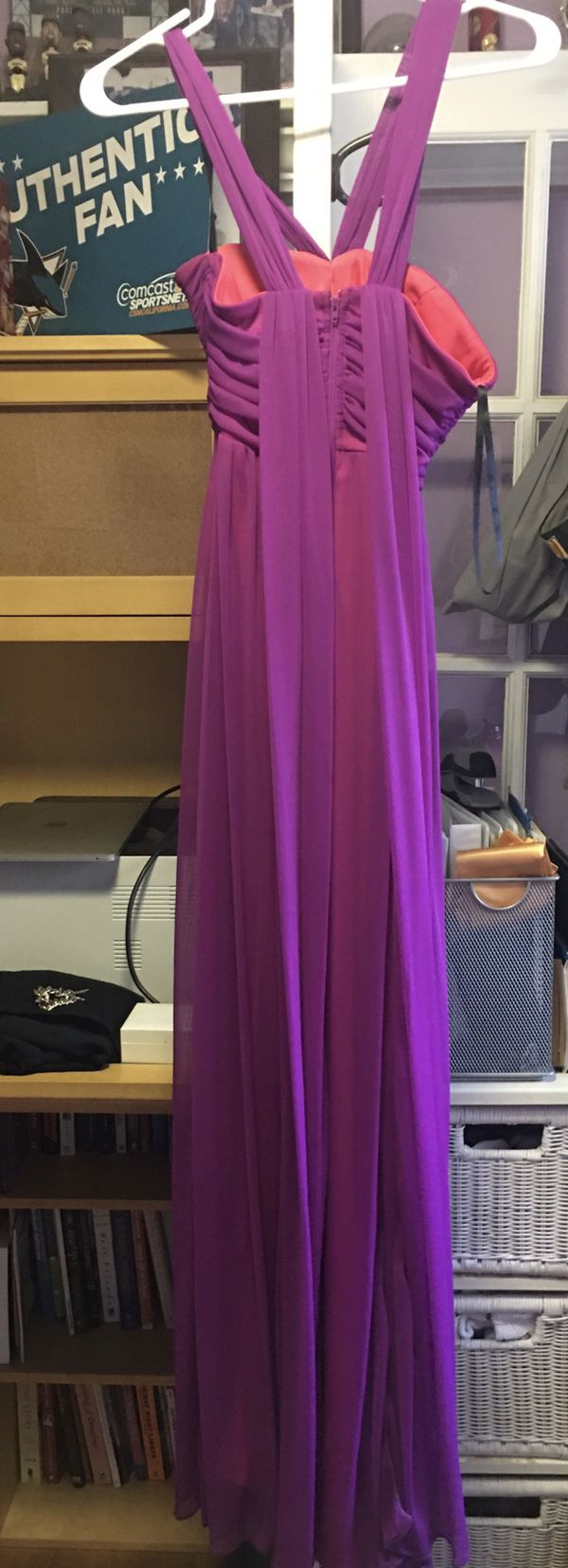 Way-In Purple and Salmon Dress