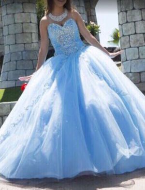 Baby Blue Cinderella Quinceanera ball gown dress for Sale in Downey, CA