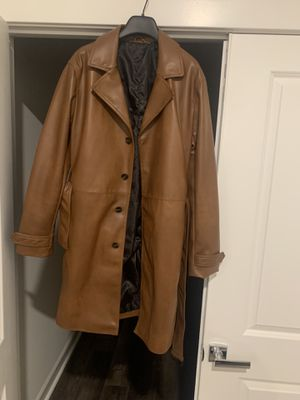 Zara Faux Leather Trench - men's for Sale in North Bethesda, MD