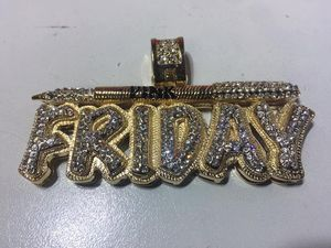 "Gold Plated ""PINK FRIDAY"" Necklace Pendent Charm for Sale in Bloomfield, NJ"