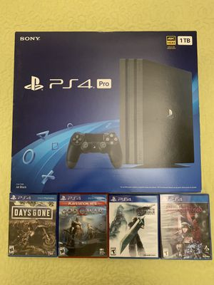 PS4 Pro Console System 4 Game Bundle Mint Condition! for Sale in Seal Beach, CA