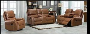 Amadora 3pc RECLINING LIVINGROOM SET 👍 FINANCING AVAILABLE 🖤👌 for Sale in Houston, TX